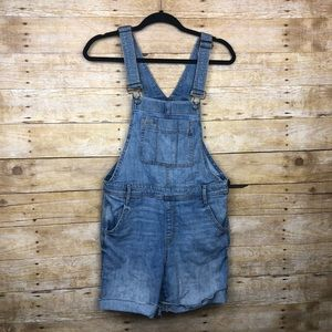 Gap outlet overall shorts